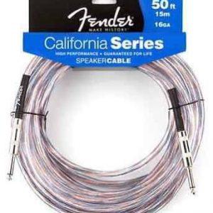 """50 Foot 16 Gauge Fender California Series Speaker Cable 1/4"""" to 1/4"""""""